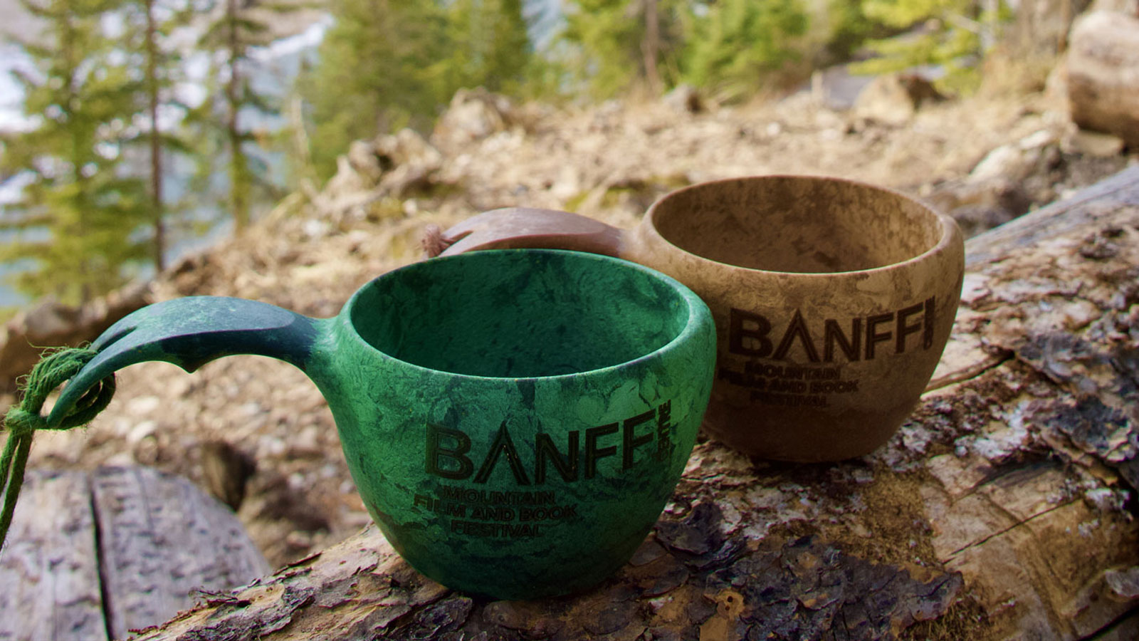 2 crafted Banff Centre cups
