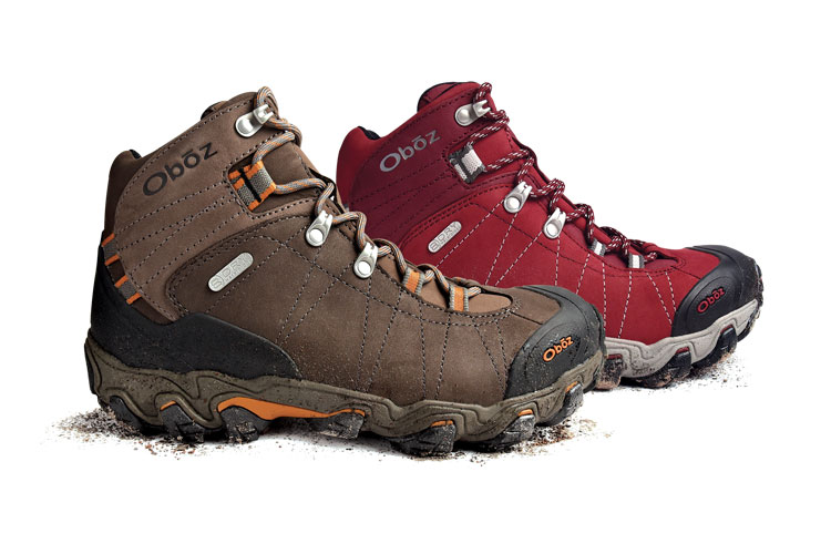 Picture of mens and womens hiking boots.