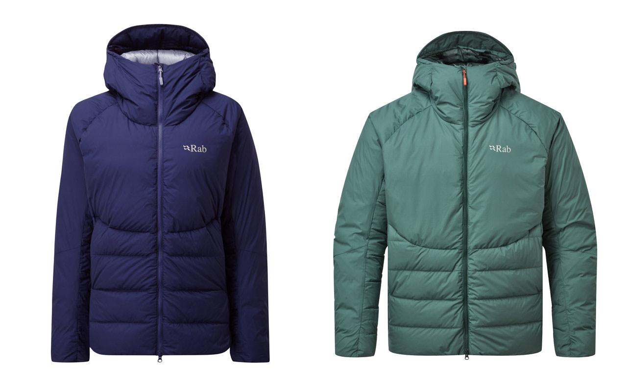 mens and womens rab jackets.