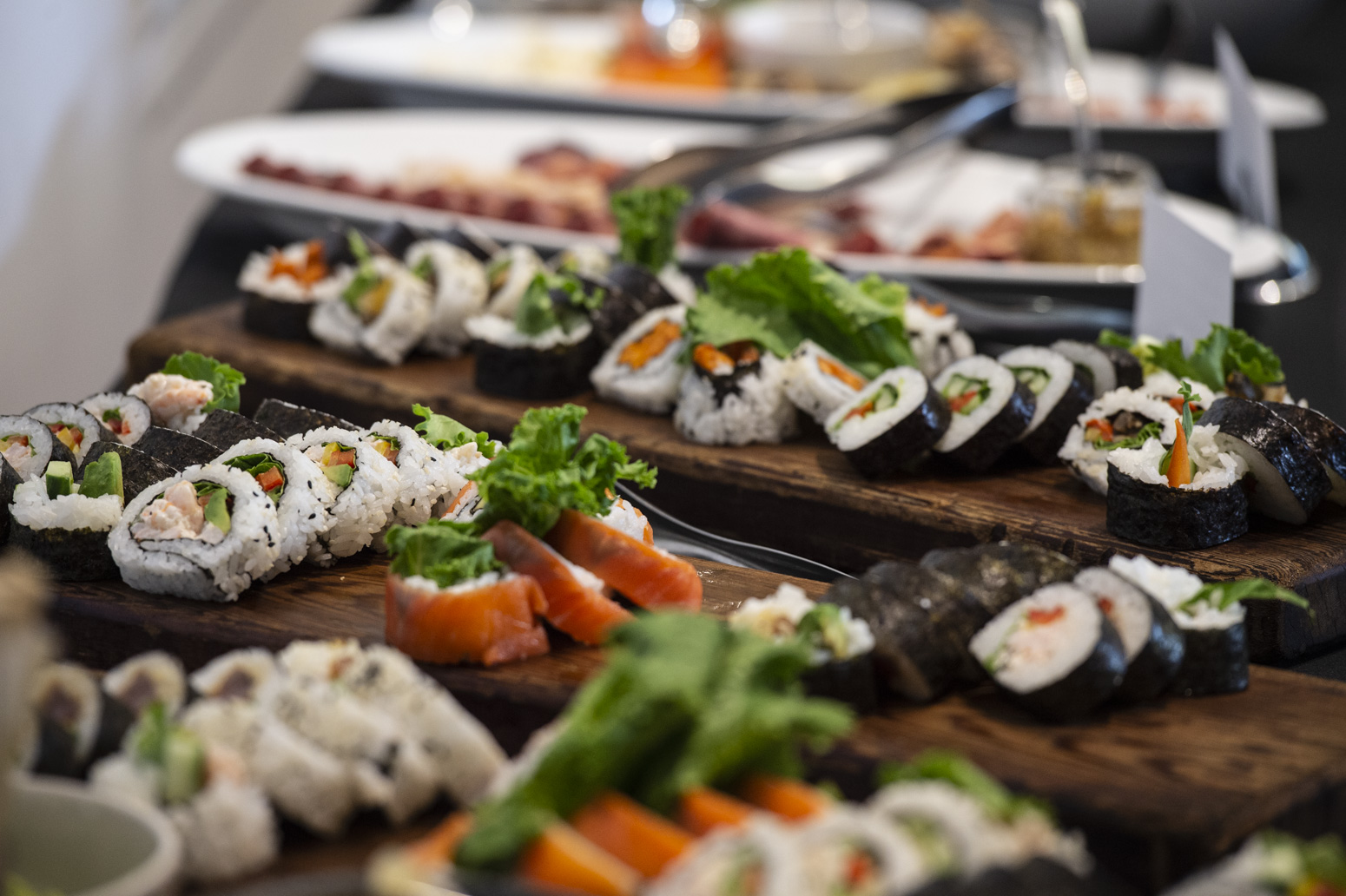 A variety of sushi