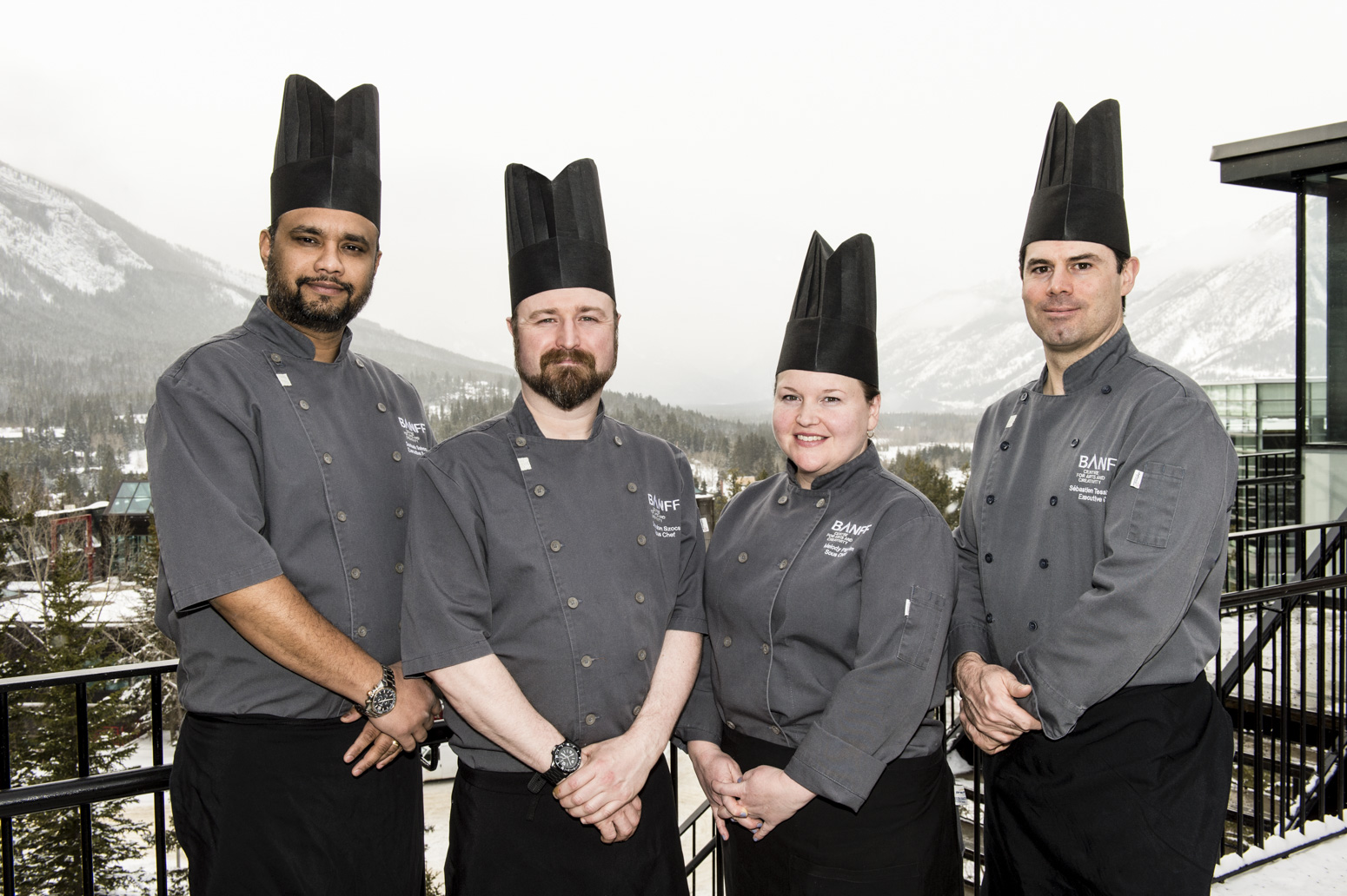Executive Chef Sébastien Tessier and his award-winning culinary team