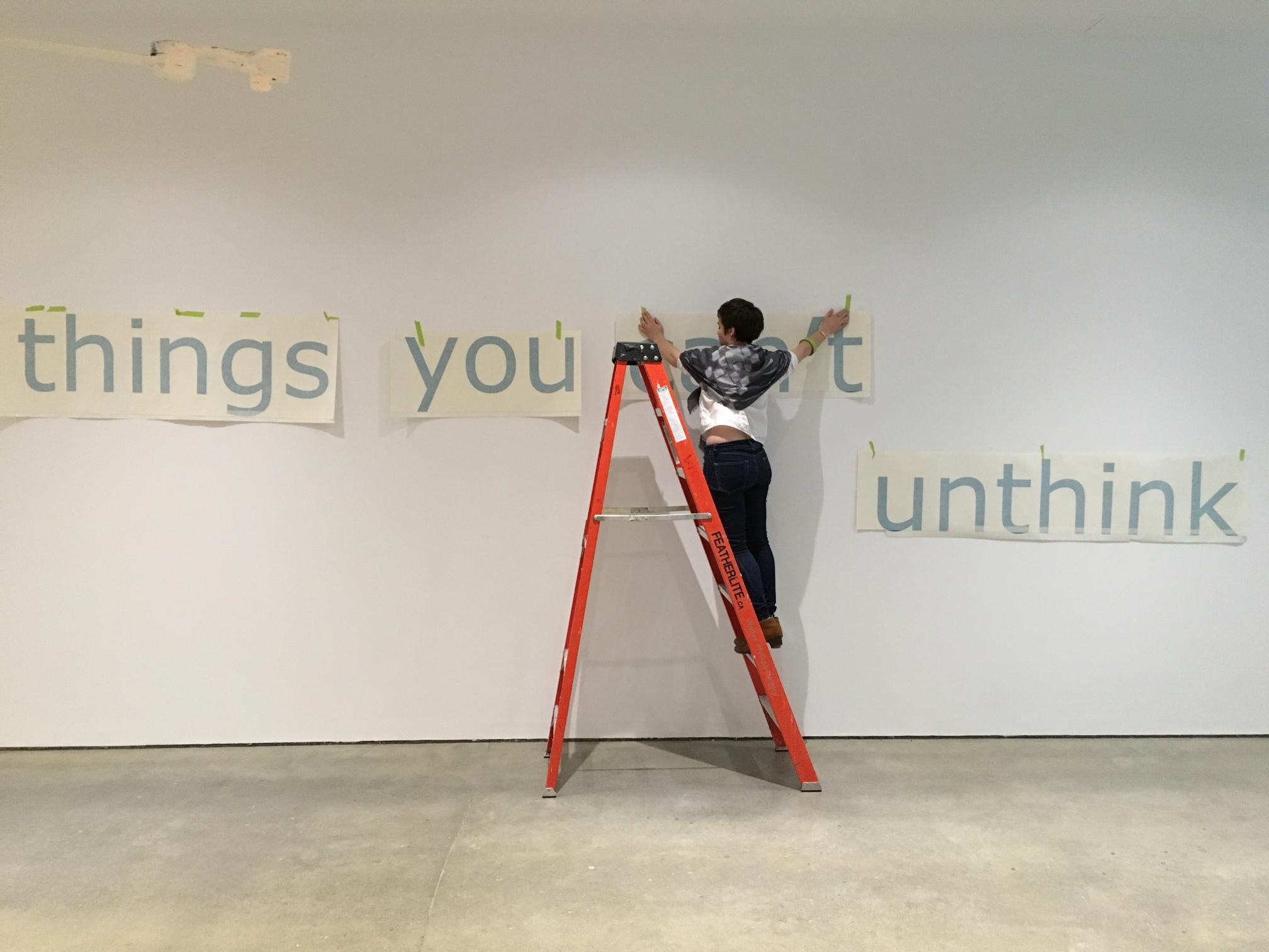 Exhibition installation activity.