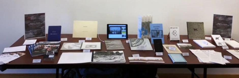 Display of Artists' Books on a table