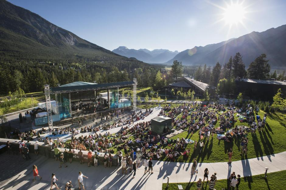 Shaw Amphitheatre in the summer