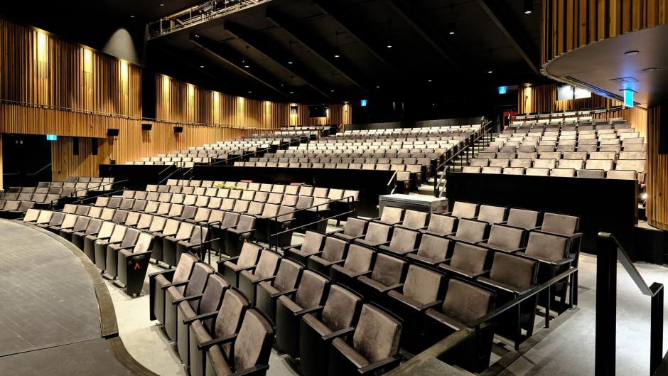 View from stage of Jenny Belzberg Theatre