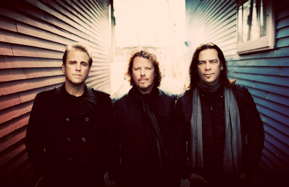Great Big Sea band picture in an urban setting.