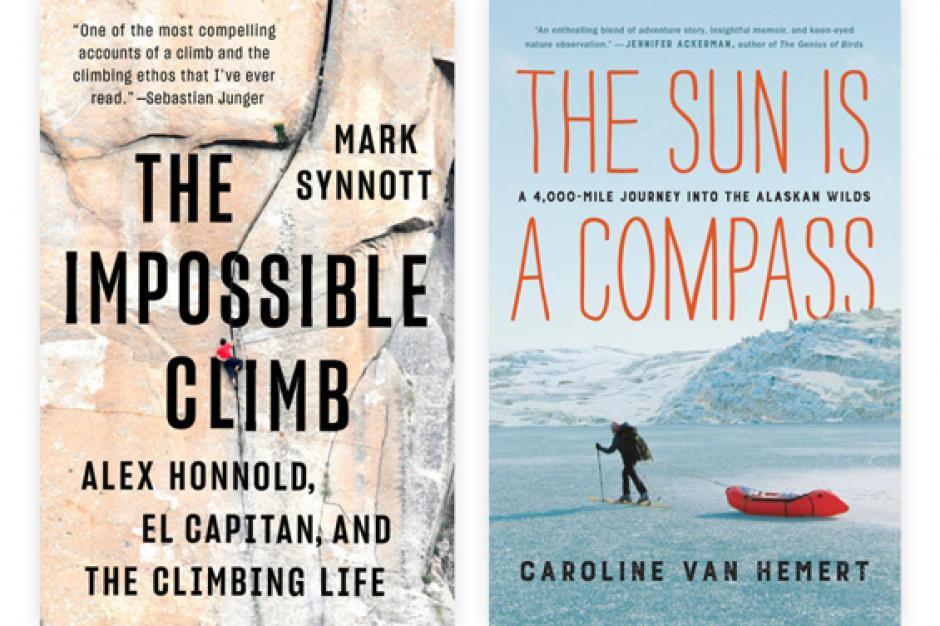 Mark Synnott and Caroline Van Hemert book covers