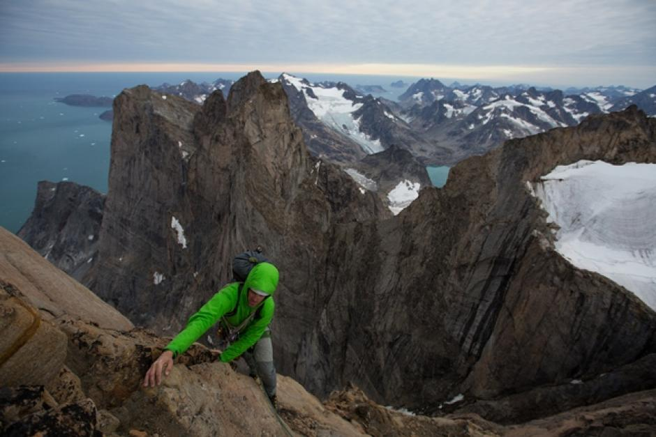 Paul McSorley climbing