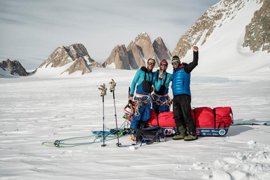 Spectre team – Leo Houlding, Jean Burgun and Mark Sedon