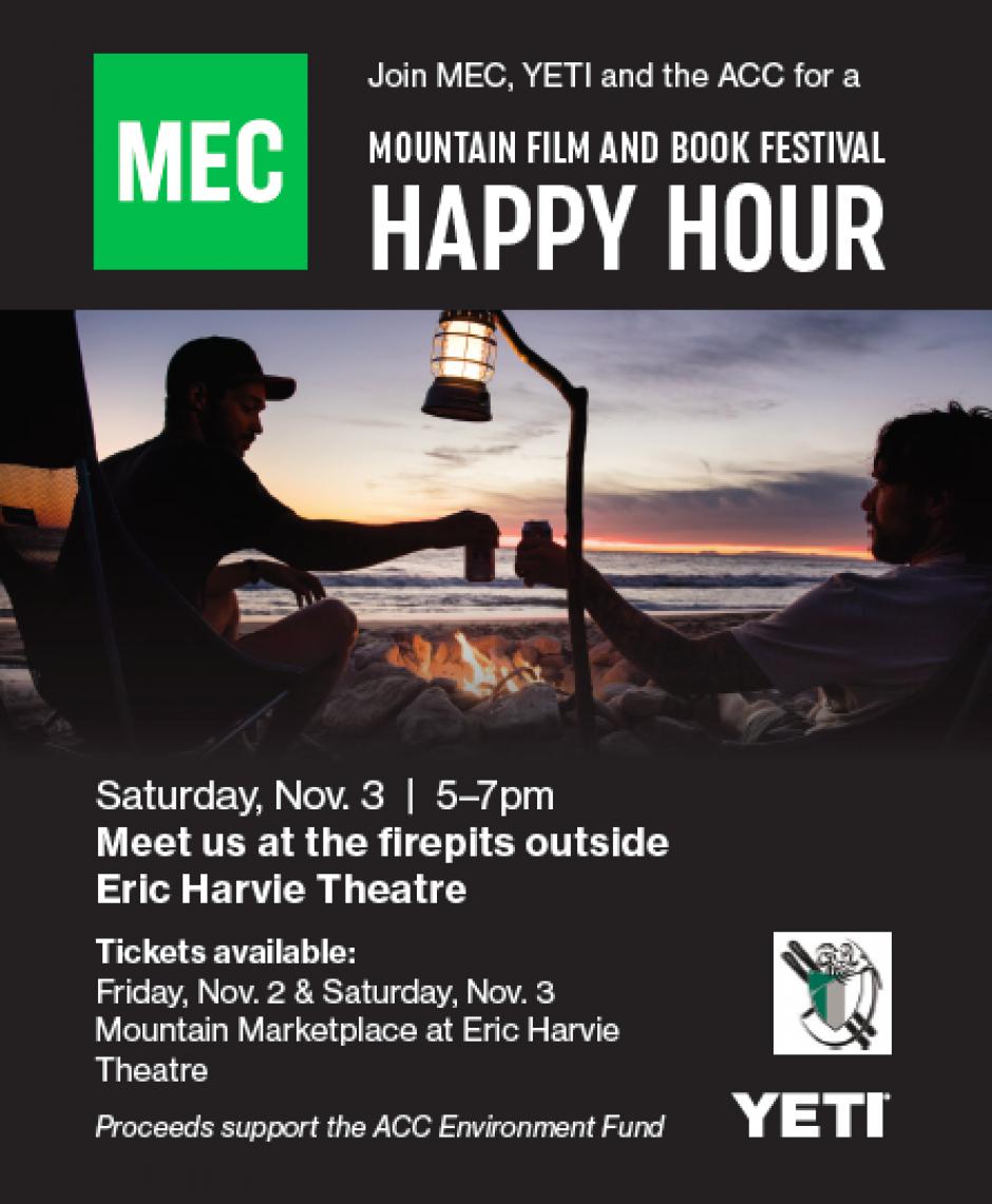 Happy Hour with MEC, Alpine Club of Canada, and YETI