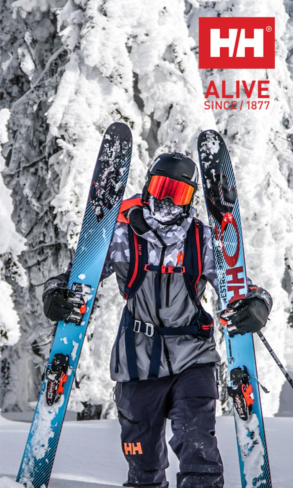 Simon Hillis – professional free skier. Image courtesy of Helly Hansen