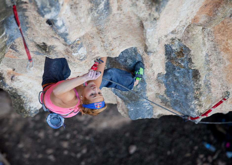 Image of Sasha DiGiulian climbing