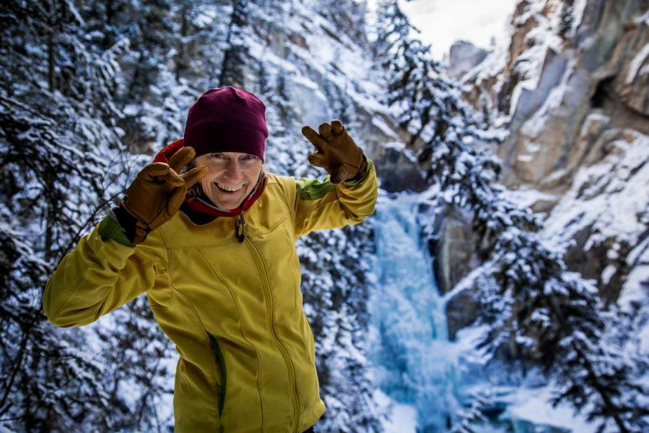 Tania Halik in the snow