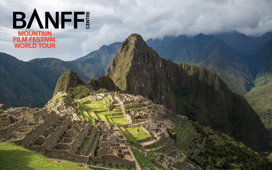 Image of Machu Picchu in Peru with Banff Centre overlay.