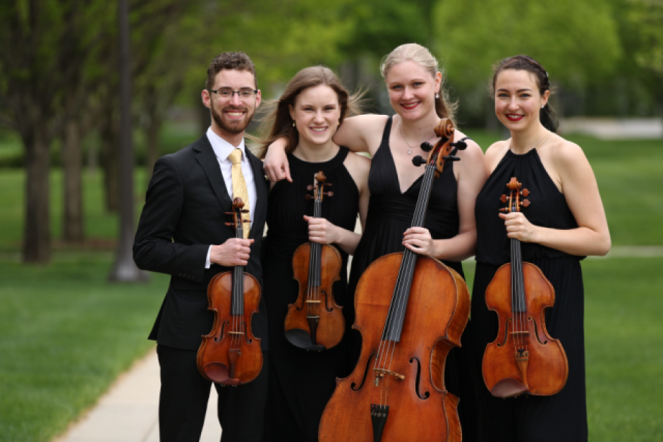 Callisto Quartet. Photo by Josef Samuel