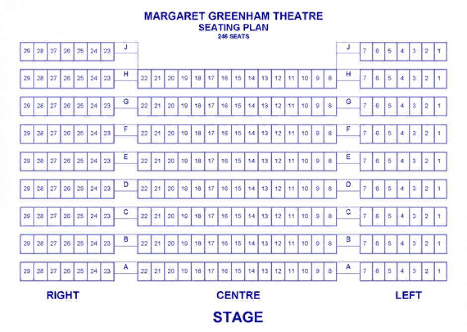 Margaret Greenham Theatre Seating Plan