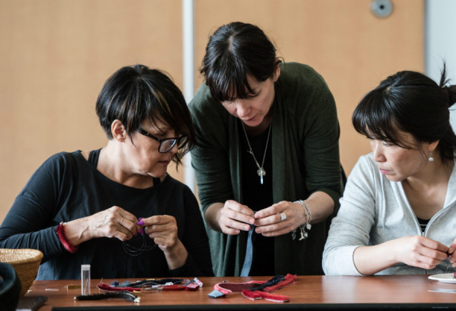 Image courtesy Banff Centre (Seal Bracelet making from National Indigenous Peoples Day 2019)