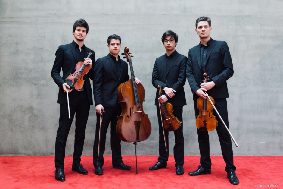 Quatuor Elmire. Photo by Sébastien Brod