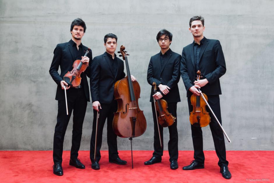 Quatuor Elmire. Photo by Sébastien Brod