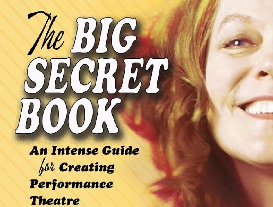 A retro 70's font and colouring are used on the book cover alongside Denise's face.