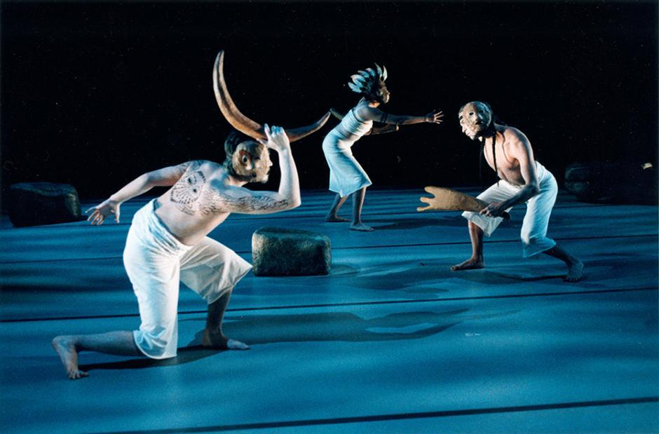 Image: Feliks Kappi, Cherith Mark, and Sidd Bobb in Alejandro Ronceria's Light and Shadow.