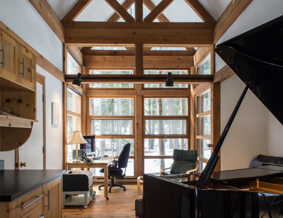Interior shot of the Davidson studio at Banff Centre.