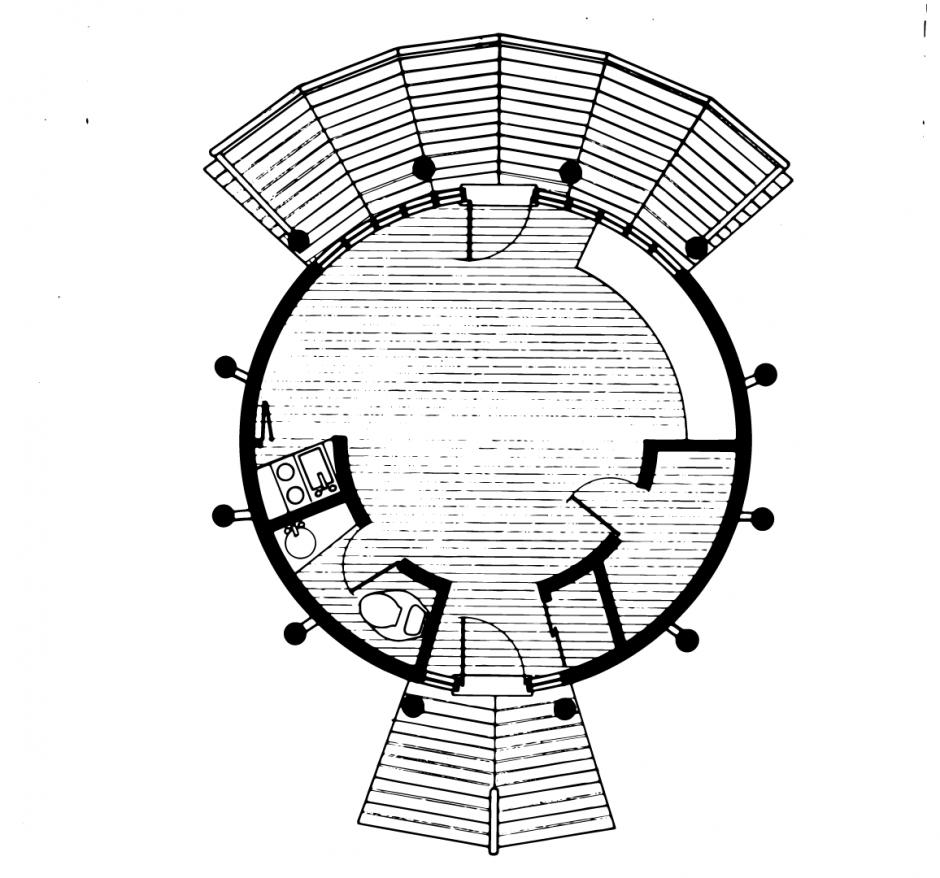 The Hemingway Studio Floorplan