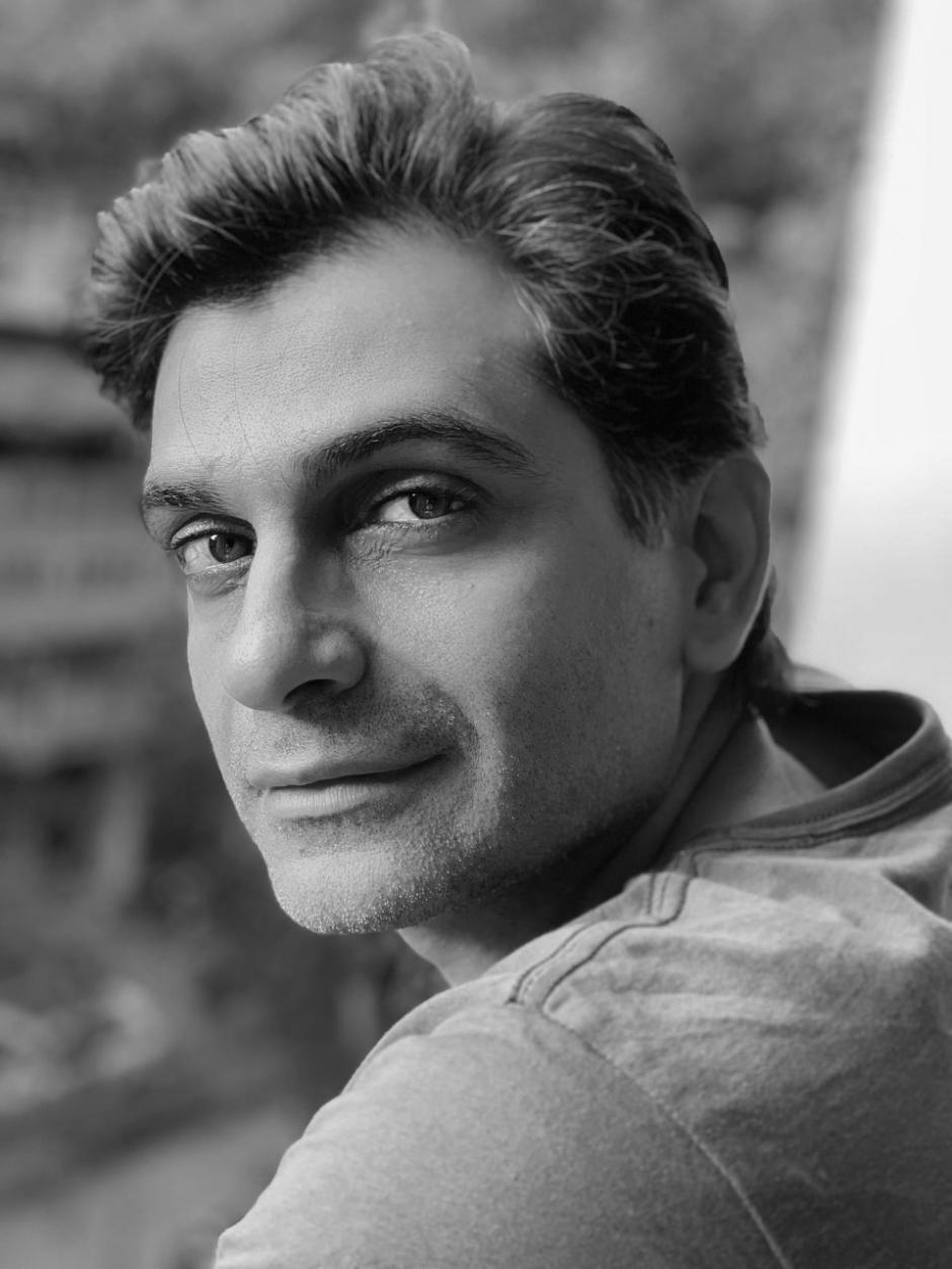 Author Anosh Irani looks over his shoulder.