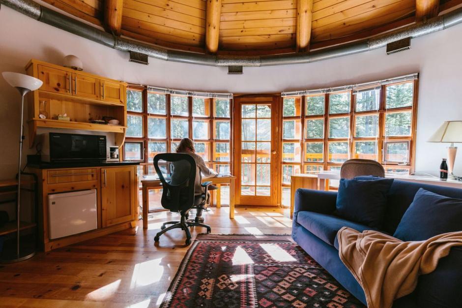 Artist inside Leighton Artists Studio