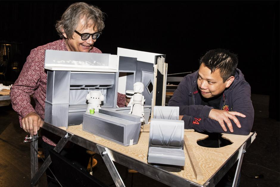 """Kid Koala (right) with part of his project """"Nufonia Must Fall"""""""