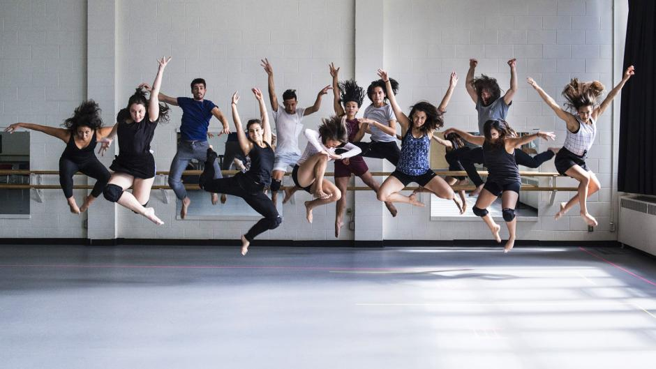 Fine arts dancers performing at Banff Centre