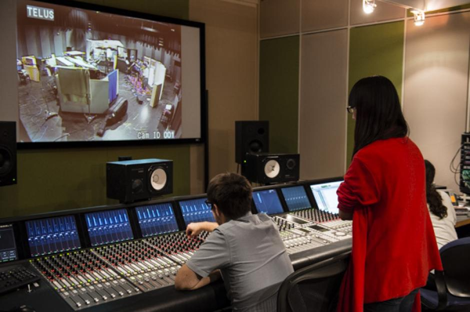 Luscar Control Room being used during the Banff International Workshop in Jazz and Creative Music