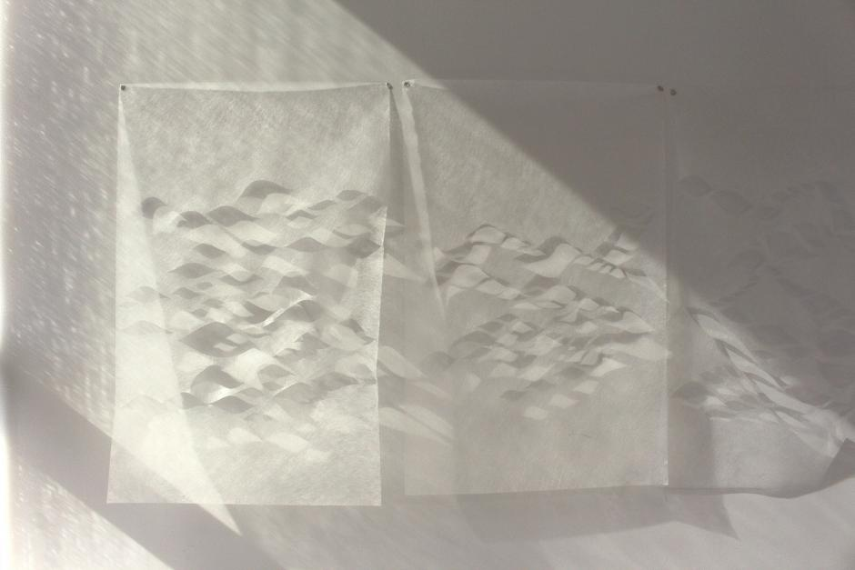Eloise Plamondon-Page's artwork titled geotextile installation