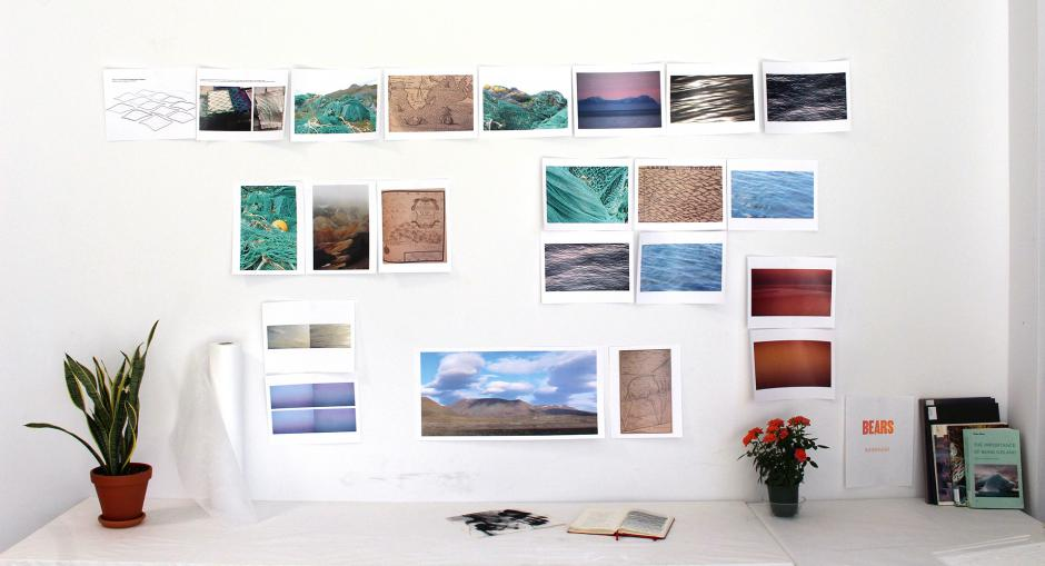 studio research images by artist Éloïse Plamondon-Pagé,