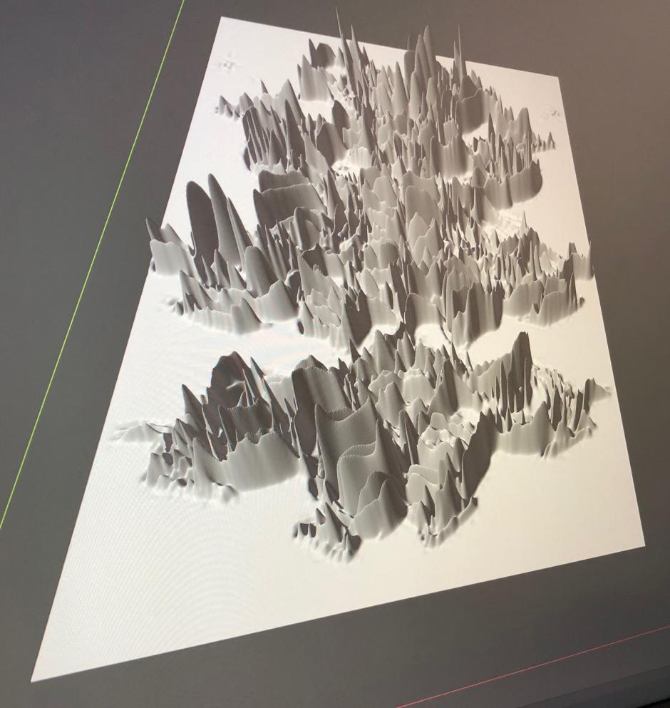 Jeffrey Bishop, 3D rendering. Work from the artist's Banff Centre residency in 2020.
