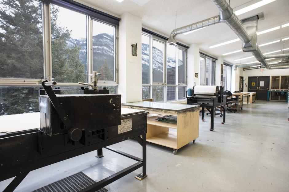 printmaking studio, Photo: Rita Taylor