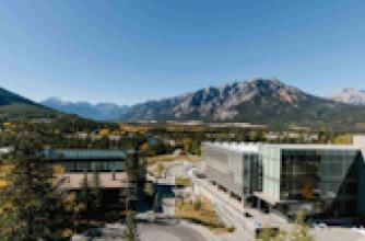 Banff Centre Campus on a sunny day