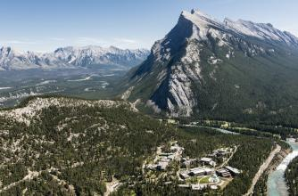 Aerial view, The Banff Centre