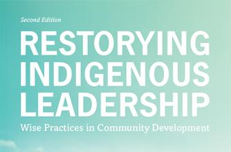 Book cover of Restorying Indigenous Leadership