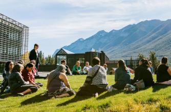 Indigenous Leadership program participants, Banff Centre. Photo by Chris Amat.
