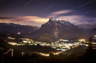 Banff at Night, image courtesy of Banff/Lake Louise Tourism