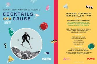 Park Distillery Après Series Presents: Cocktails for a Cause