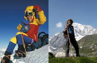 Image of Sharon Wood and Reinhold Messner
