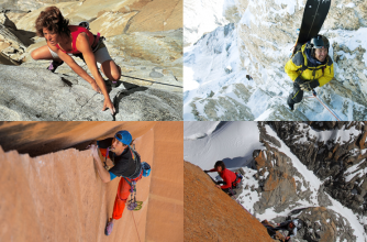 (l to r) Lynn Hill, Jeremy Jones, Sonnie Trotter and Catherine Destivelle headline the 2016 Banff Mountain Film and Book Festival.