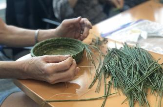Drawn to Nature, craft of basket workshop
