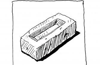 "Nelson Henricks, untitled [brick] graphic (originally published in ""Cube"" #5, 1998). Courtesy the artist"