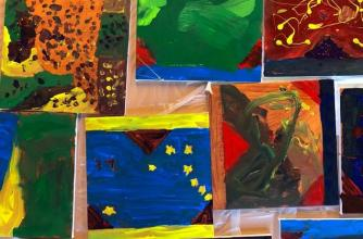 Kids Collaborative Mountain Art Exhibition, Family Winter Arts Festival