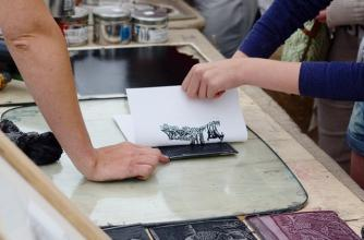 Printing Using a Linocut Design