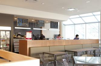 Le Cafe inside Sally Borden Fitness and Recreation Building