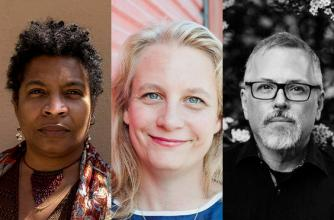 Photo of program faculty, Nalo Hopkinson, Emily-Pohl-Weary and Jeff Vandermeer